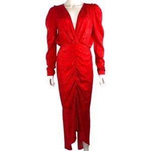 Ronny Kobo Astrid Rushed Jacquard midi dress